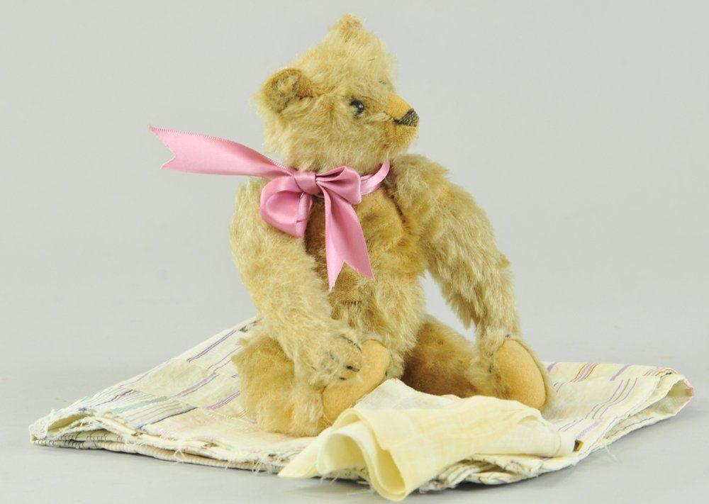 1854: STEIFF BLONDE TEDDY BEAR WITH BLANK BUTTON