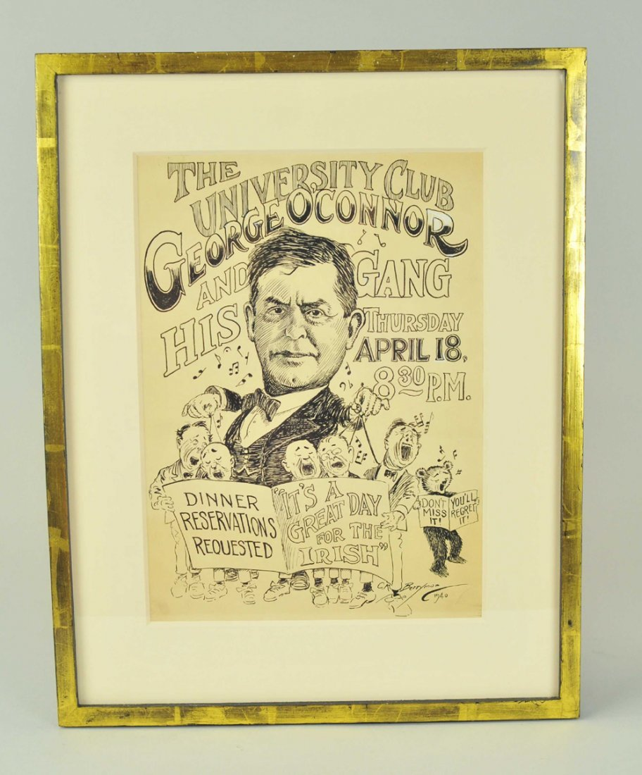 1918: CLIFFORD BERRYMAN SIGNED DRAWING