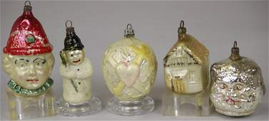 2004: FIVE EARLY CHRISTMAS TREE ORNAMENTS