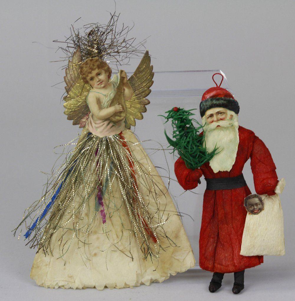 2125: SANTA AND ANGEL CHRISTMAS TREE ORNAMENTS