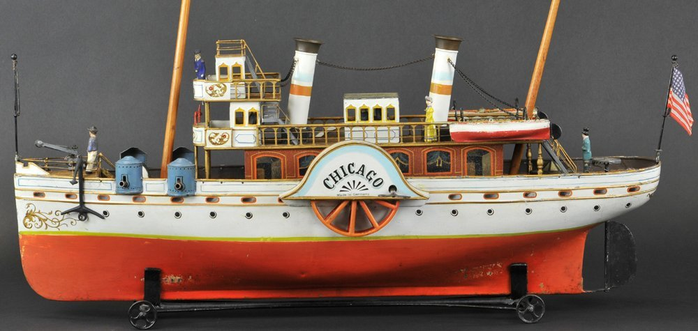 "MARKLIN PADDLE WHEELER ""CHICAGO"" WITH BOX"