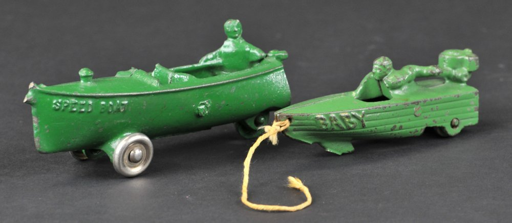 LOT OF TWO MINIATURE BOATS
