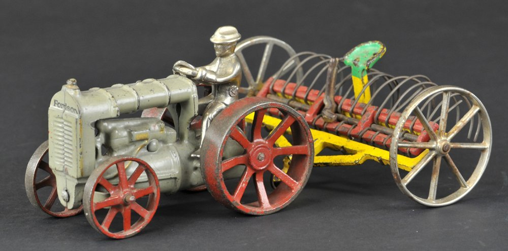 ARCADE FORDSON TRACTOR AND HAY RAKE