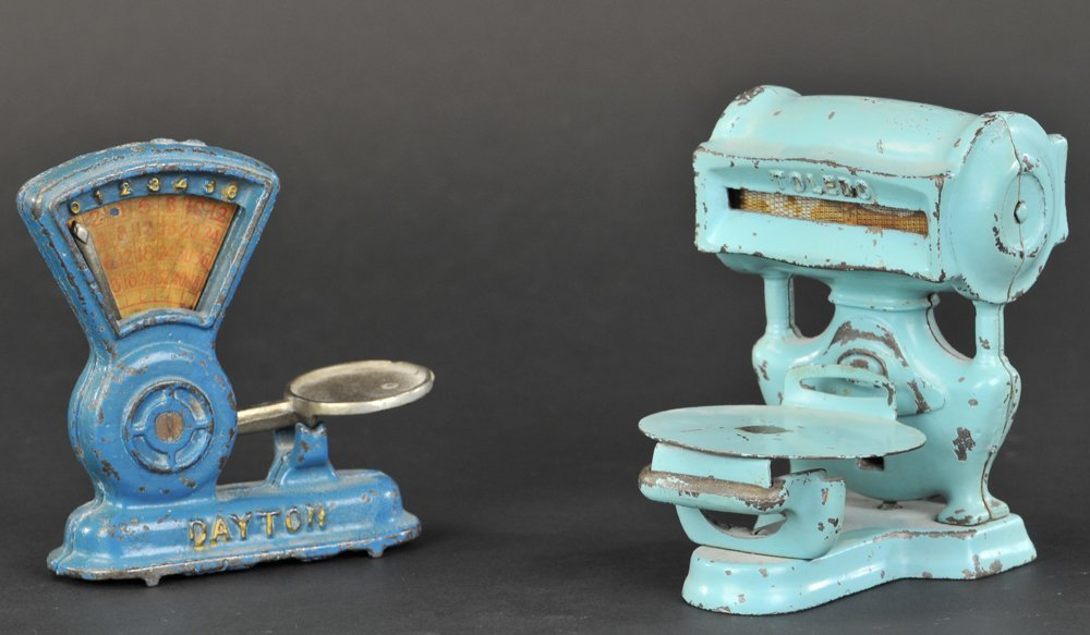LOT OF TWO TOY SCALES