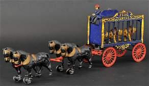 HUBLEY HORSE DRAWN ROYAL CIRCUS LION CAGE WAGON