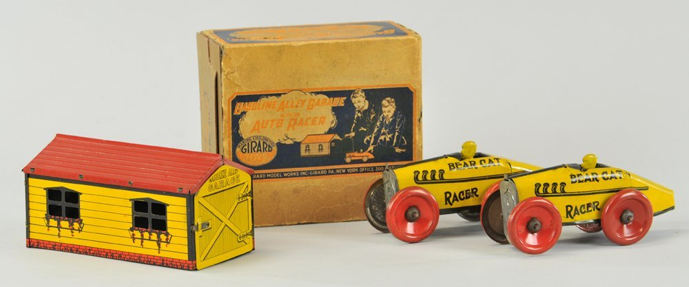 GIRARD GARAGE & BEAR CAT RACERS W/ORIGINAL BOX
