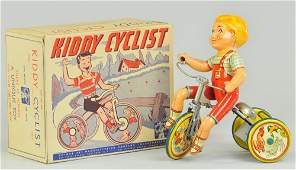 UNIQUE ART KIDDY CYCLIST IN ORIGINAL BOX
