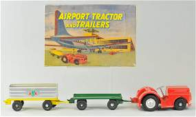DOEPKE MODEL TOYS AIRPORT TRACTOR & TRAILERS SET