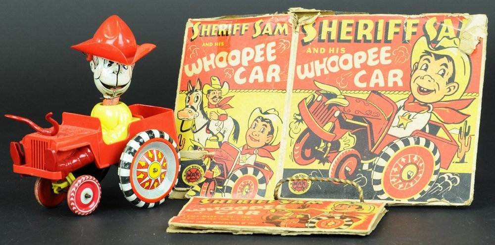BOXED SHERIFF SAM WHOOPEE CAR