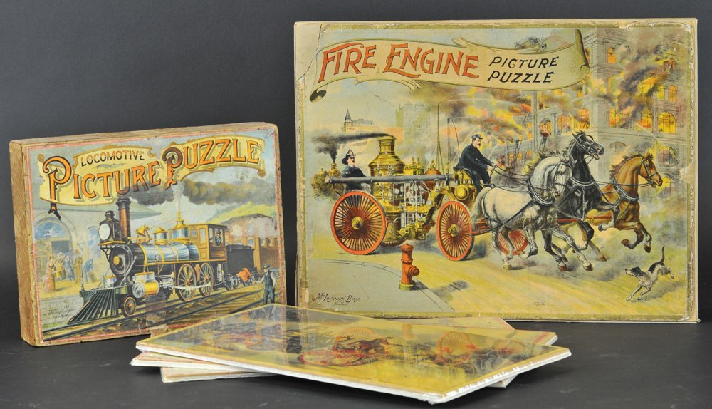 LOCOMOTIVE AND FIRE ENGINE PUZZLES
