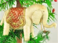 PRESSED COTTON ELEPHANT ORNAMENT
