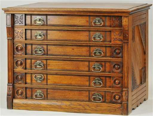 Six Drawer Willimantic Spool Cabinet