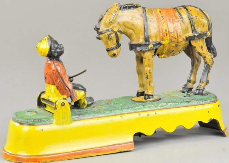 SPISE A MULE BENCH MECHANICAL BANK