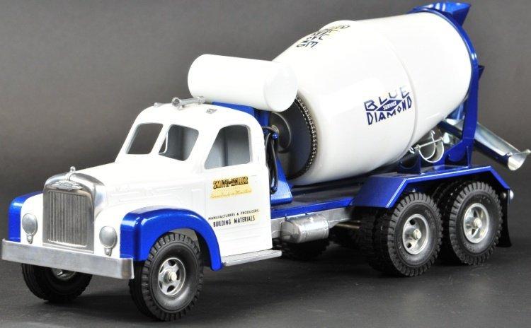 miller b mack blue diamond cement truck