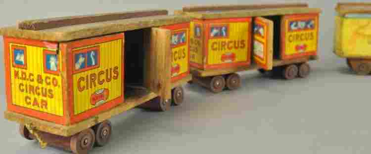 GROUPING OF LITHOGRAPHED BOX CARS
