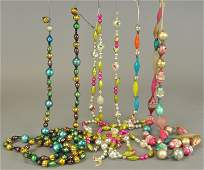 EARLY GERMAN GLASS BEADS AND ONE JAPAN