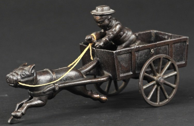 IVES ARTICULATED DOG PULLING CART