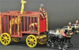 HUBLEY ROYAL CIRCUS GIRAFFE CAGE WAGON