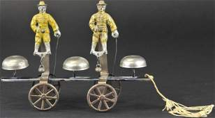 WATROUS DOUBLE SOLDIERS BELL TOY