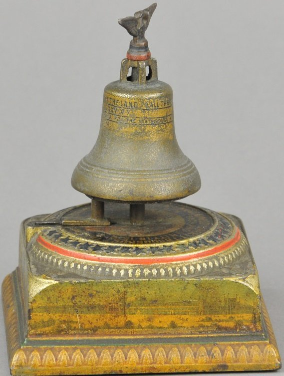 MEMORIAL MONEY BANK LIBERTY BELL MECHANICAL BANK - 2