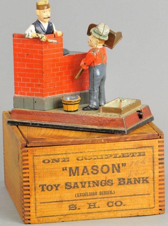 MASON MECHANICAL BANK WITH BOX