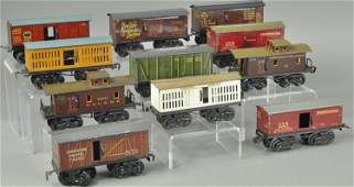 GROUPING OF BING AND FANDOR FREIGHT CARS