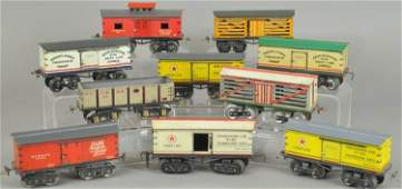 GROUPING OF IVES FREIGHT CARS