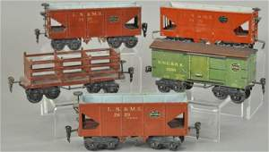 GROUPING OF O GAUGE FREIGHT CARS