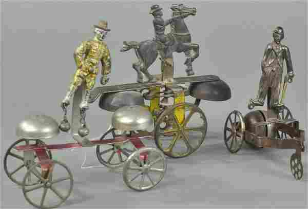 ROUGH RIDER, TEDDY AND CHARLIE CHAPLIN BELL TOYS