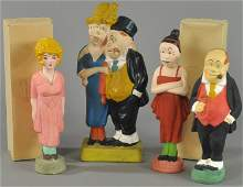 LOT OF FOUR CHALKWARE FIGURES