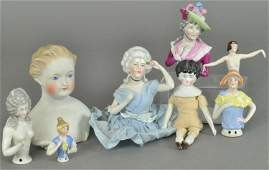 DOLL AND HALF DOLL GROUPING