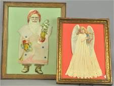 TWO LARGE DIE-CUT CHRISTMAS PRINTS