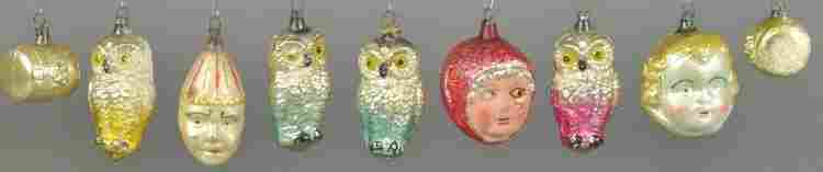 GROUPING OF NICE GLASS ORNAMENTS