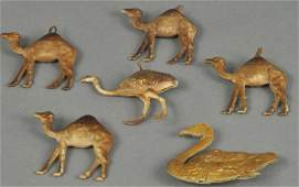 NICE GROUPING OF ANIMAL ORNAMENTS