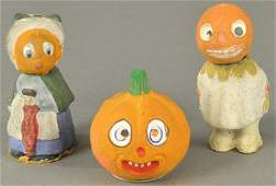 OUTSTANDING TRIO OF HALLOWEEN CANDY CONTAINERS