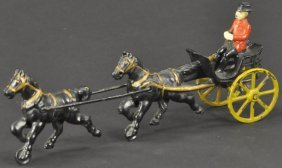 Wilkins Double Horse Cart With Rider