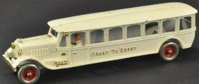 Cast Iron Hubley Coast To Coast Bus