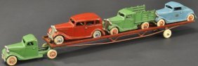 Arcade Model 'a' Auto Transport With Cars