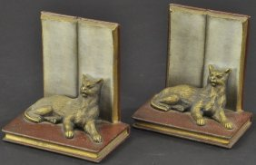 B & H Cat On Books Bookends
