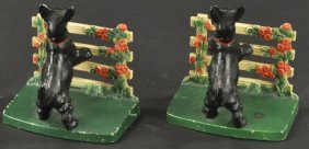 Hubley Scottie At Fence Bookends