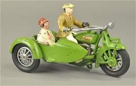 HUBLEY MOTORCYCLE w/SIDECAR