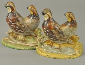 Set Of Quail Bookends