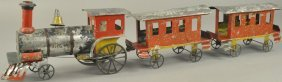 Ives Early American Tin Train Set