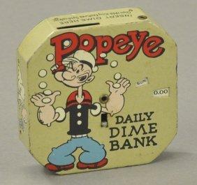Popeye Daily Dime Bank