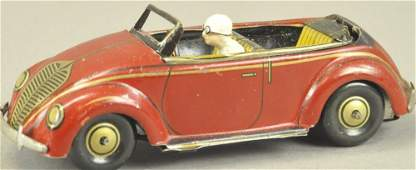 KELLERMAN TIN CLOCKWORK CONVERTIBLE CAR