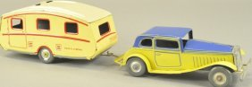 Mettoy Coupe And Trailer