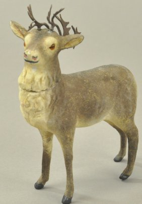 German Reindeer Candy Container
