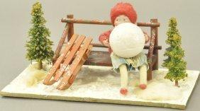 Heubach Girl W/snowball