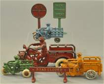 GROUPING OF CAST IRON TOYS