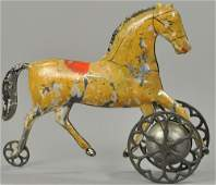 BROWN HORSE BELL TOY